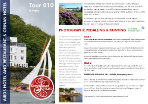 Itinerary 010 - Crinan Hotel and Airds Hotel1. IMAGEN LÍMITE