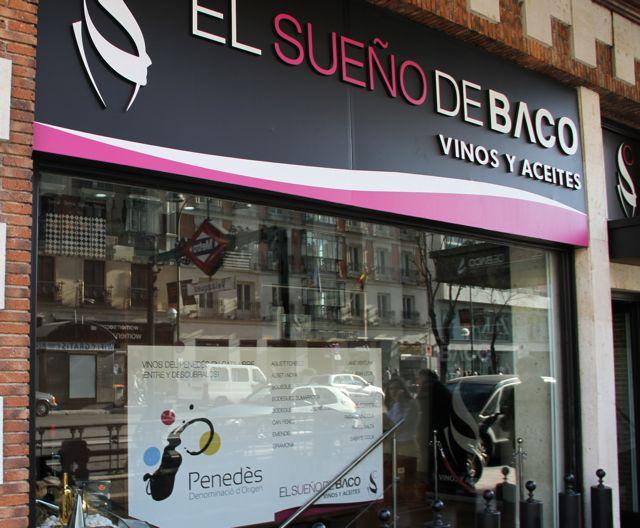 El Sueño de Baco Vinoteca Madrid. Vinos del Penedès. IMAGEN LÍMITE