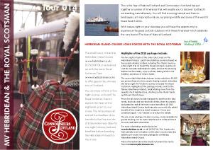 Itinerary 014 - Royal Scotsman and Hebridean Princess. IMAGEN LÍMITE