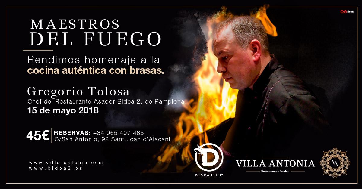 Maestros del Fuego, Rte. Villa Antonia (San Juan – Alicante)