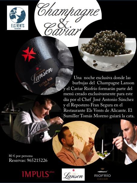 Champagne y Caviar en Els Vents