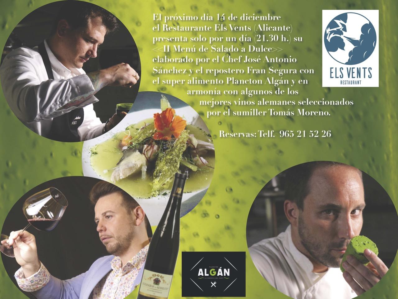 Els Vents presenta «Menú del Salado al Dulce»